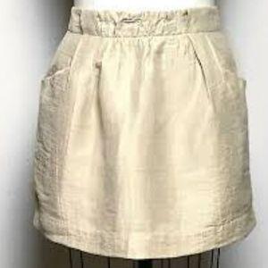 J Crew Linen Mini Skirt Size 00 EUC